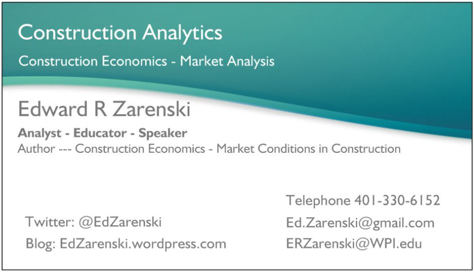 Business Card « Construction Analytics